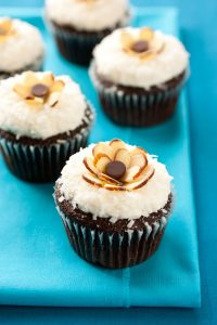 Chocolate Cupcakes with Coconut Frosting Recipe