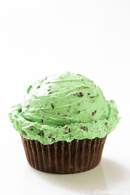 Chocolate Cupcakes with Mint Chocolate Frosting Recipe