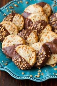 Toffee Pecan Shortbread Cookies Recipe