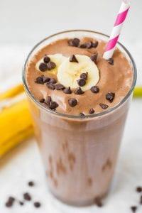 Chocolate Peanut Butter Banana Breakfast Shake Recipe