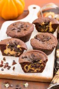 Chocolate Pumpkin Cheesecake Muffins Recipe