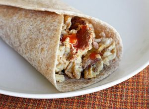 Chorizo and Egg White Breakfast Burrito Recipe