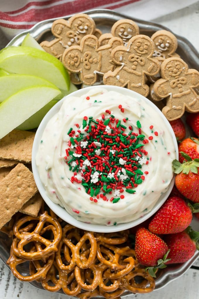 Christmas Cookie Dough Dip Recipe