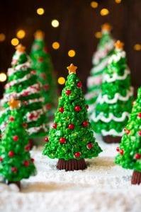 Christmas Tree Rice Krispies Treats Recipe