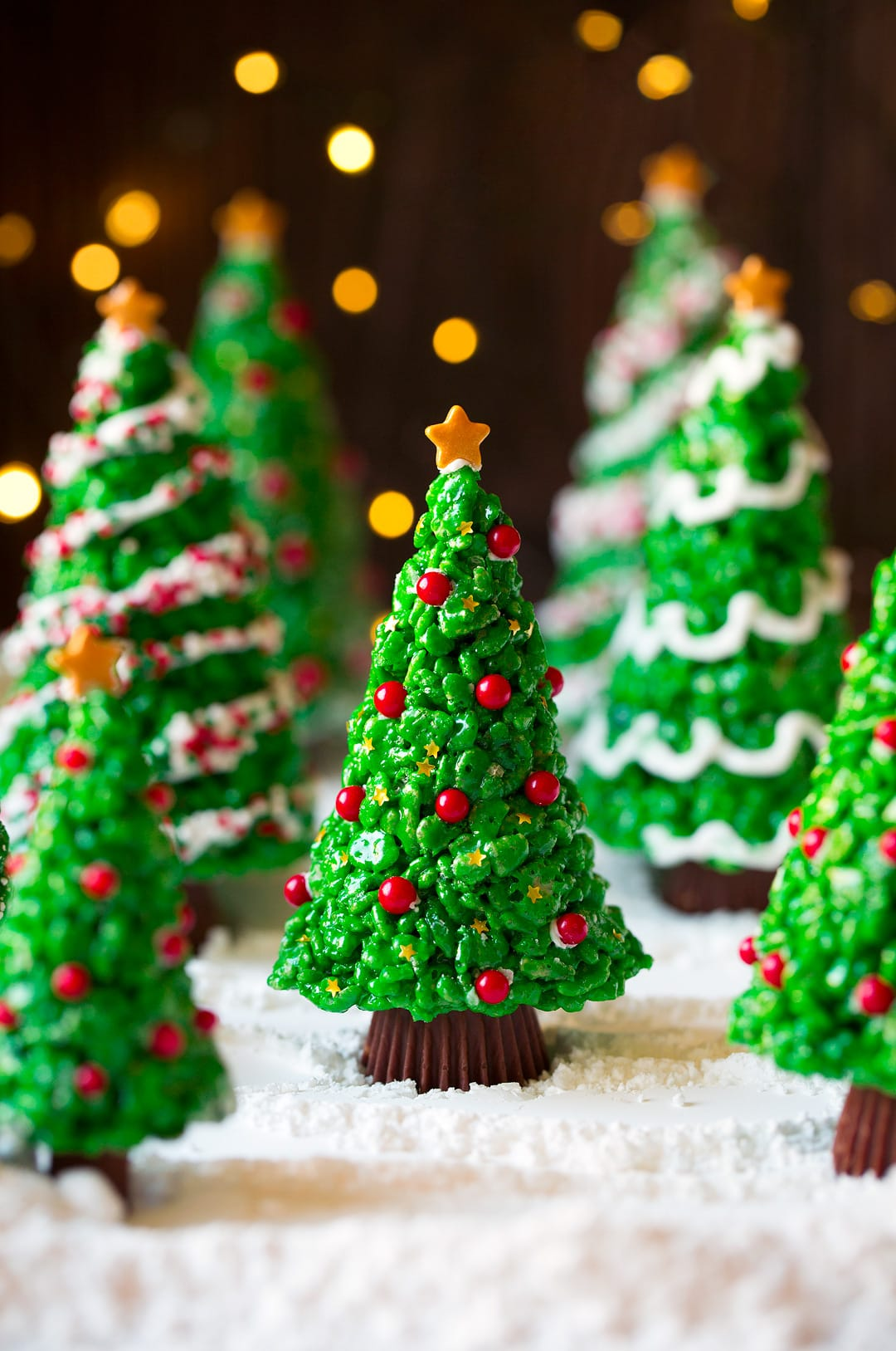 Christmas Tree Rice Krispies Treats Recipe