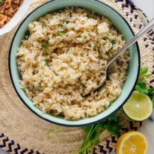 Cilantro Lime Brown Rice Recipe