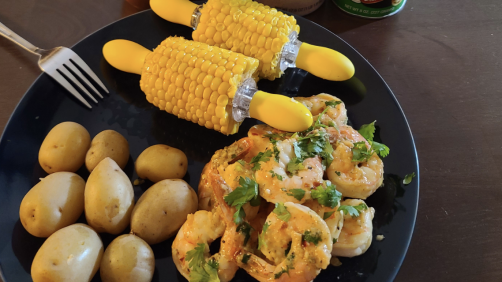 Cilantro Lime Shrimp With Boiled Potatoes Recipe