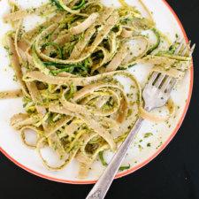 Cilantro-Pepita Pesto with Squash Ribbons Recipe