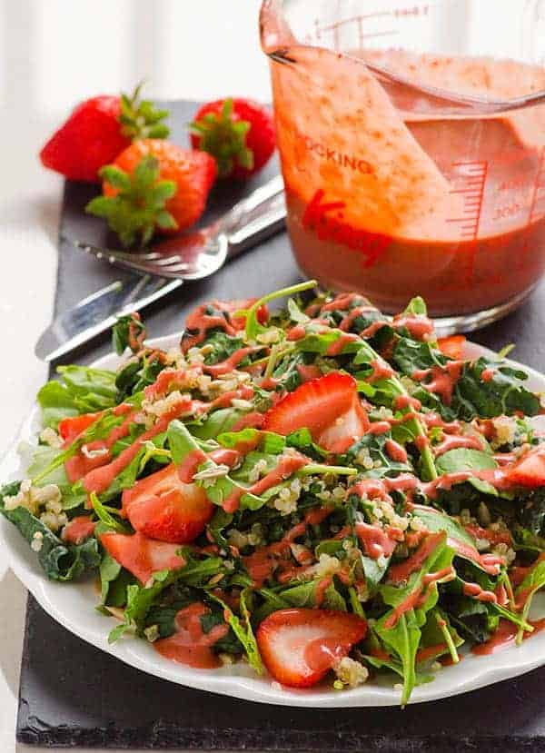 Strawberry Quinoa Kale Salad Recipe