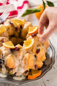 Cranberry Orange Monkey Bread Recipe