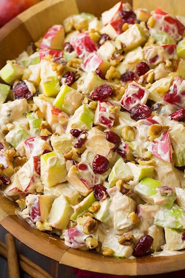 Creamy Cinnamon Apple and Walnut Fruit Salad Recipe