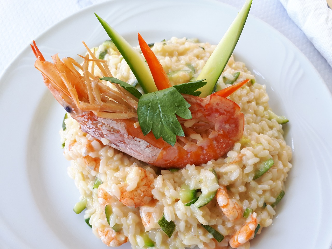 Creamy Garlic Shrimp Cauliflower Rice Risotto Recipe