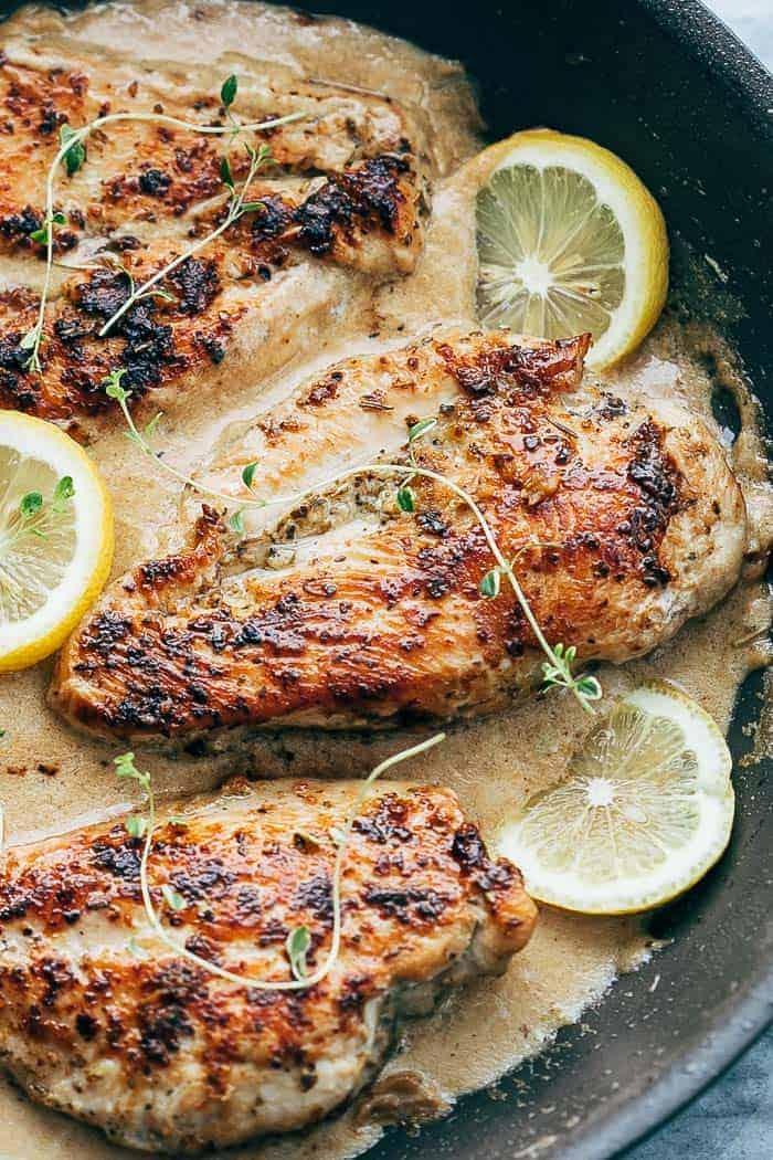 Creamy Lemon Thyme Chicken Recipe