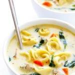 creamy tortellini and sausage soup recipe