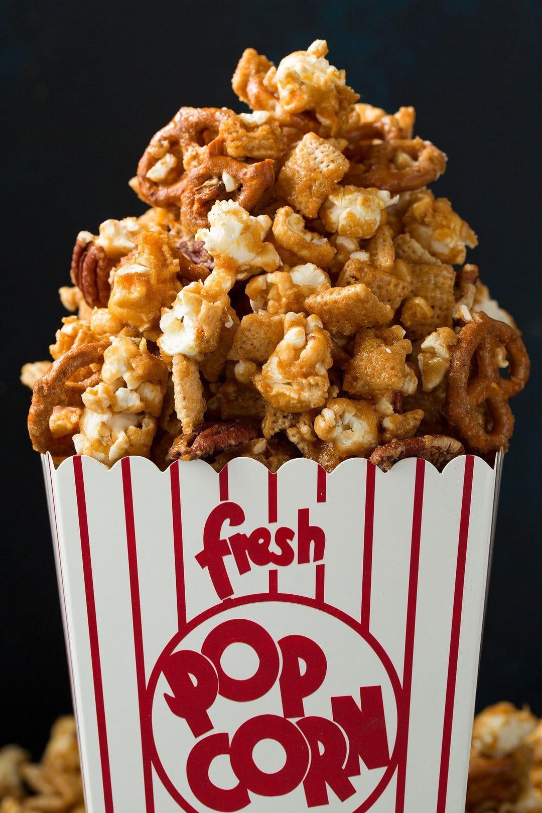 Crunchy Caramel Corn Snack Mix Recipe