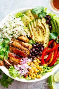Fajita Chicken Burrito Bowl Recipe
