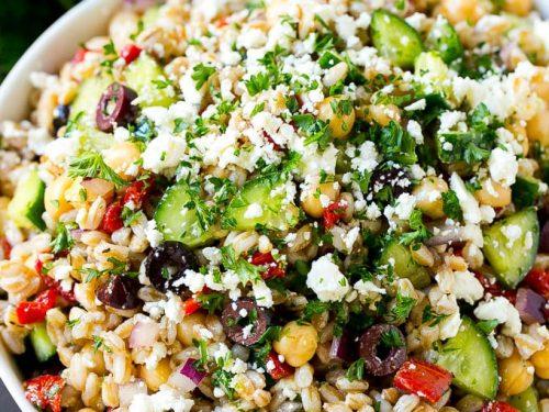 farro salad with feta recipe