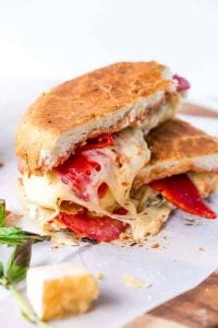 Focaccia Three-Cheese Italian Grilled Cheese Recipe