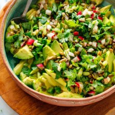 Fresh Herbed Avocado Salad Recipe