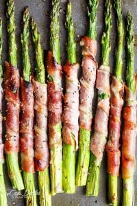 Garlic Butter Prosciutto Wrapped Asparagus Recipe