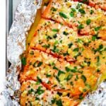 garlic lovers salmon in foil (baked or grilled!) recipe
