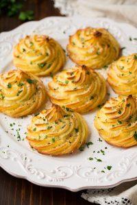 Garlic Parmesan Duchess Potatoes Recipe