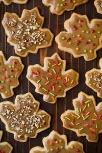 Glazed Maple Shortbread Cookies Recipe