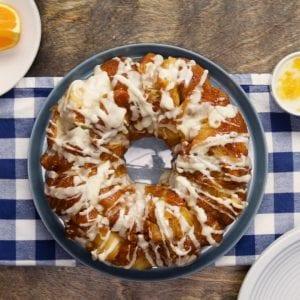 Glazed Orange Pull-Apart Bread Recipe