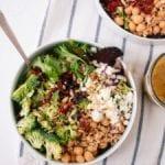 greek salad with broccoli and sun-dried tomatoes recipe