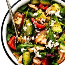 Greek Salmon Salad Bowls Recipe