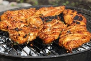 Grilled Chicken with Honey Mustard Glaze Recipe