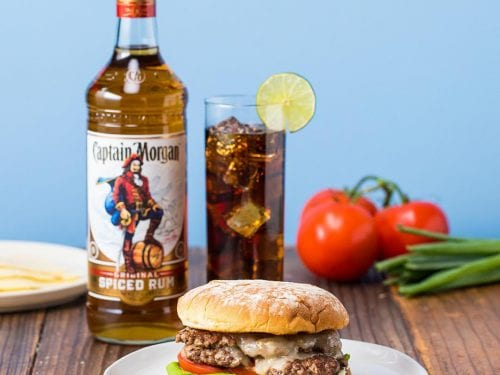 grilled smashed burger and cuba libre recipe