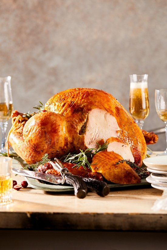 Herb and Salt-Rubbed Dry Brine Turkey Recipe