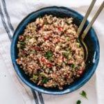herbed quinoa and pomegranate salad recipe