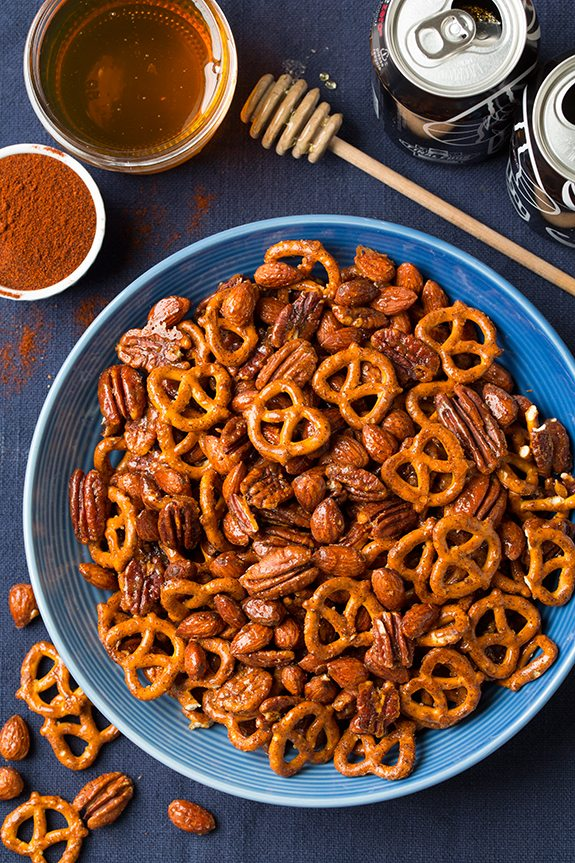 Honey-Chipotle Nut and Pretzel Mix Recipe