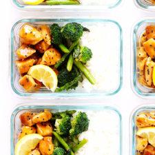 Honey Lemon Chicken Bowls (Meal Prep) Recipe