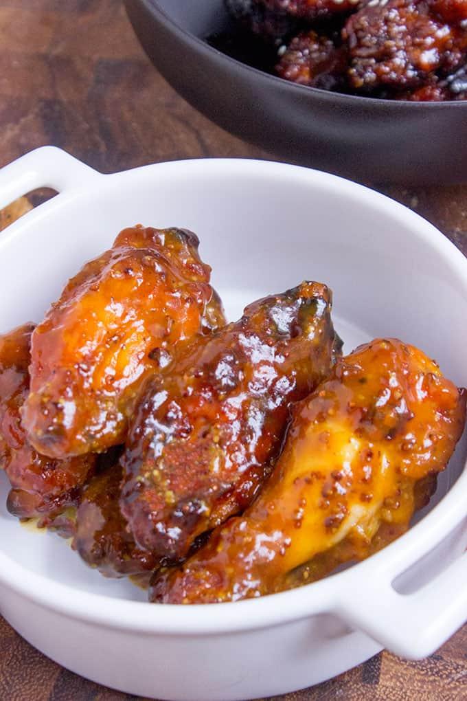 Honey Mustard BBQ Chicken Wings Recipe