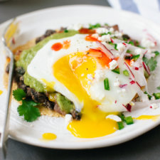 Huevos Rancheros with Avocado Salsa Verde Recipe