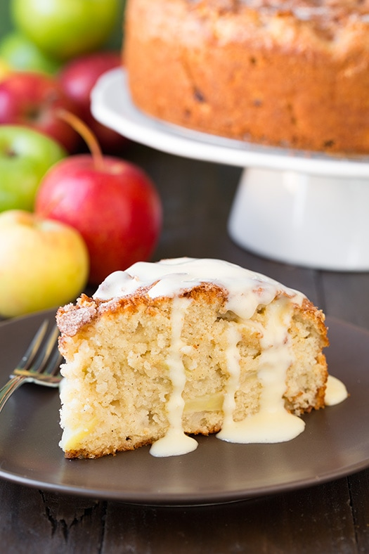 Irish Apple Cake with Custard Sauce Recipe