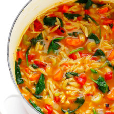 Italian Orzo Spinach Soup Recipe