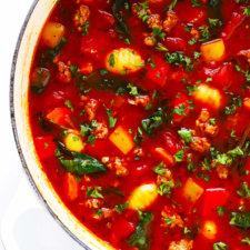 Italian Sausage, Gnocchi, and Tomato Soup Recipe