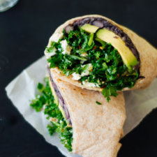 Kale and Black Bean Burritos Recipe