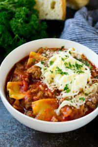 Ground Beef Lasagna Soup Recipe