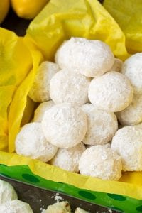 Lemon Snowball Cookies Recipe