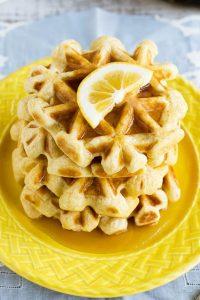 Lemon Sour Cream Waffles Recipe