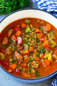 Lentil Soup with Smoked Sausage Recipe