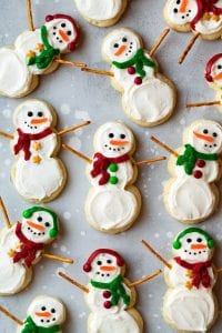 Lofthouse Style Snowman Sugar Cookies Recipe
