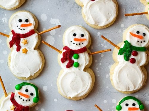 lofthouse style snowman sugar cookies recipe