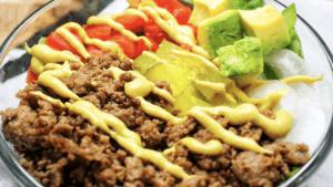Low-Carb Burger Bowl Recipe