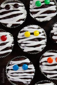 Low Fat Chocolate Mummy Cupcakes Recipe